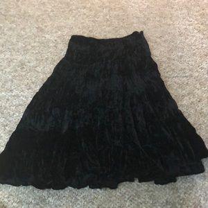 John Paul Richard/Uniform pleated black skirt